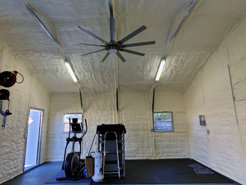 Metal Workshop Walls and Roof Deck with Closed Cell Foam