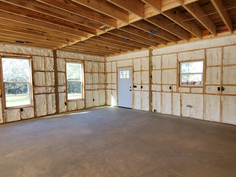 New Construction Home with Open Cell Foam