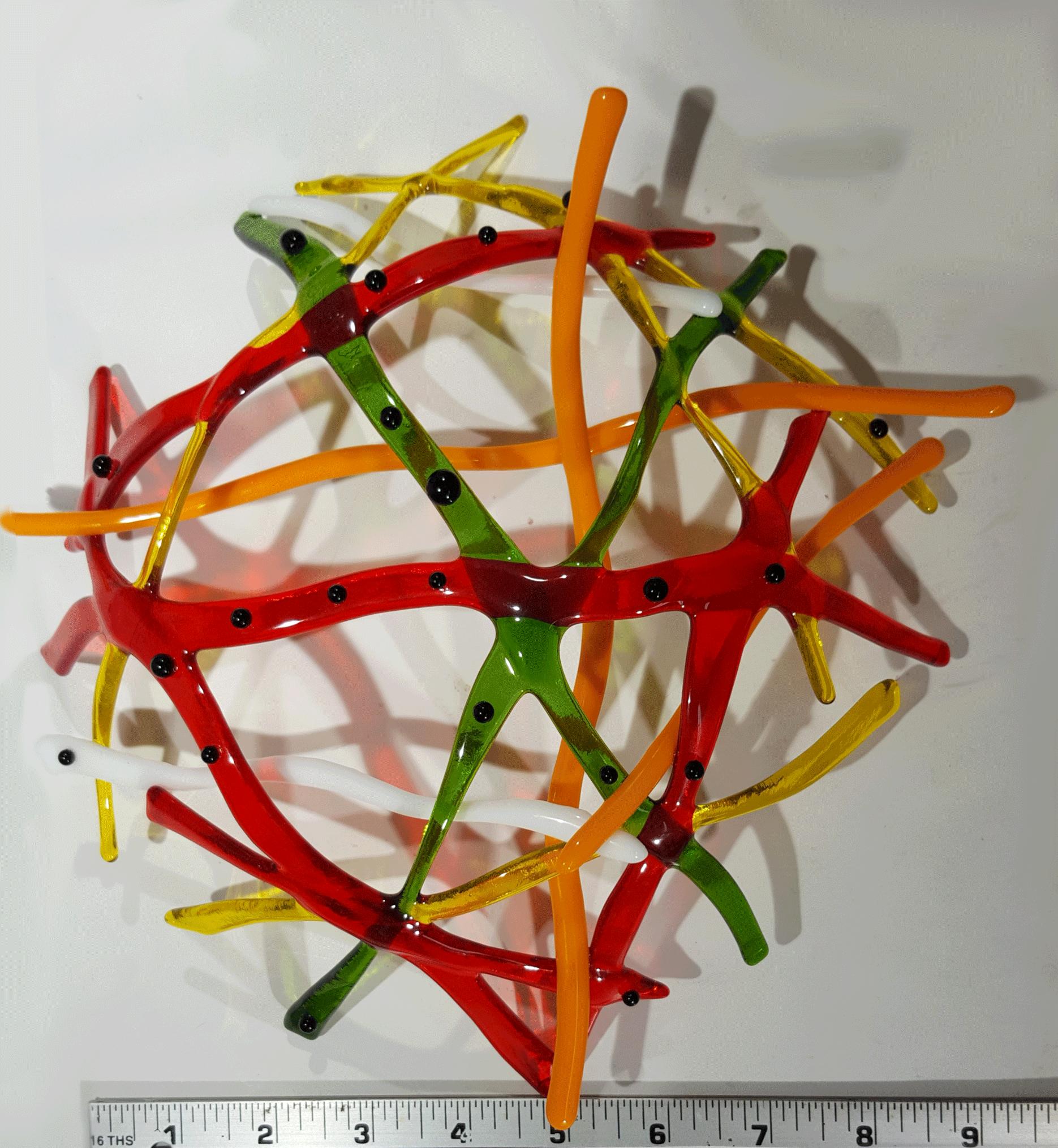 a-Organic-Variation-Bullseye-Green,-red,-yellow-and-orange--with-black--Goo-Gaas