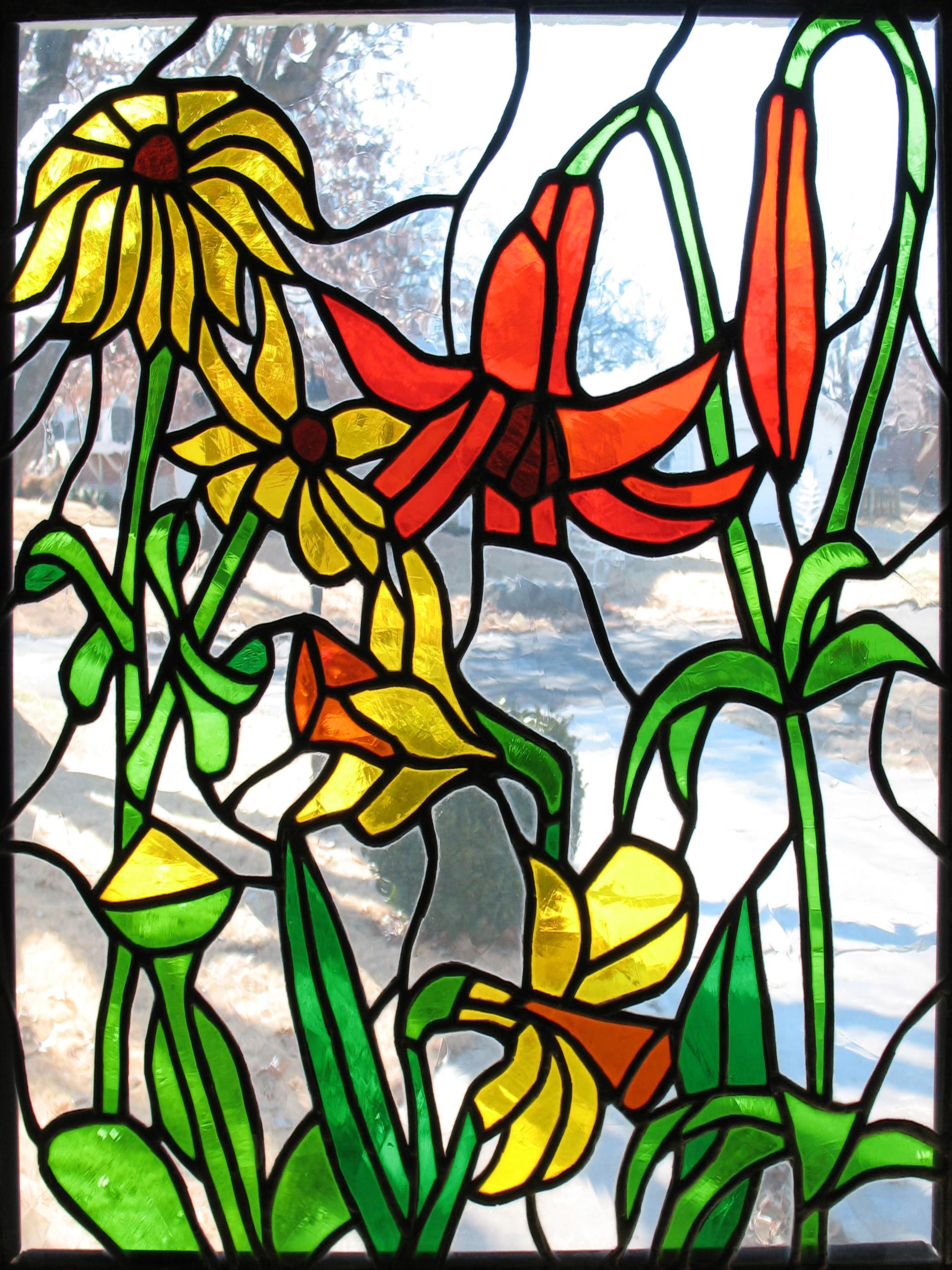 Mixed Flowers Window alternate view