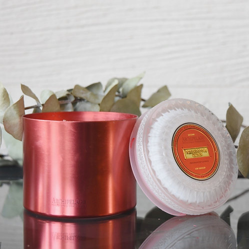 Pomegranate Metal Candle