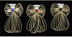 Wire Angel Pins * Handcrafted by Cindy Cruess