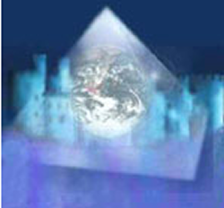 The Earth in a Fifth-Dimensional Crystalline Pyramid