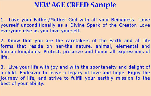 New Age Creed Scroll