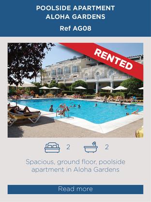 Poolside apartment for rent Aloha Gardens