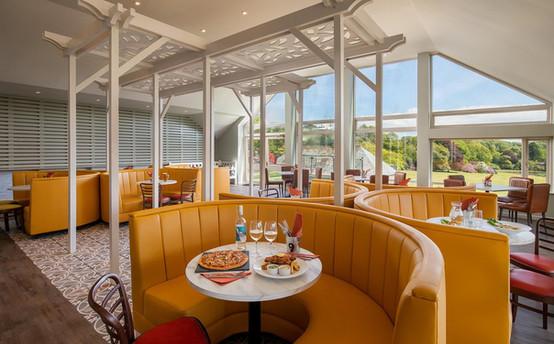 Clowance Estate restaurn with a view