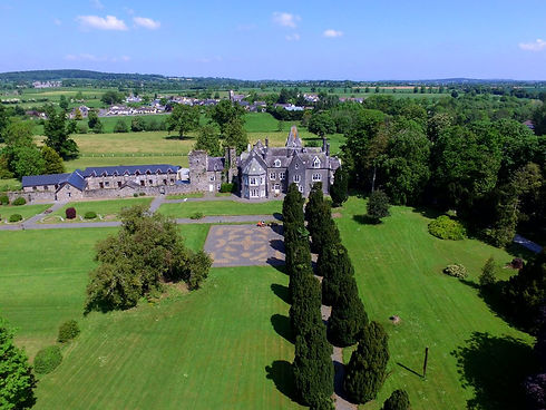 Aerial view of Knocktopher Abbey in Kilkenny