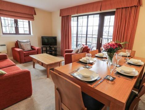 Open plan living at Brunston Castle Reort