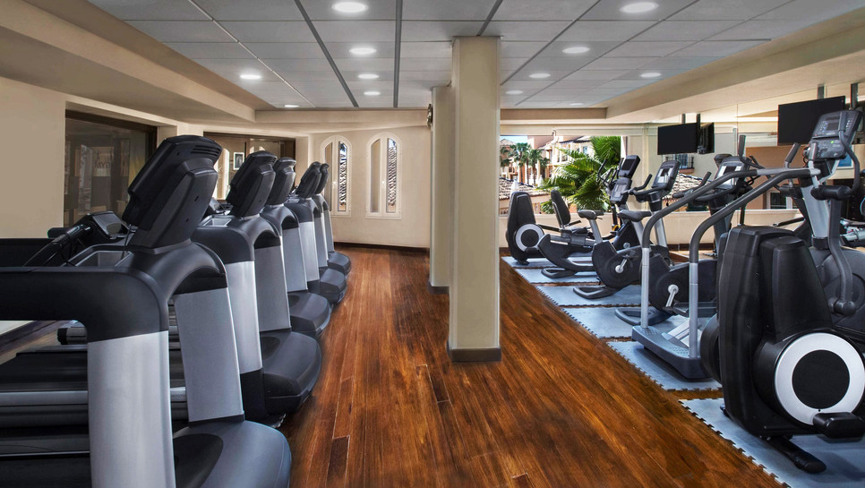 Well-equipped fitness centre