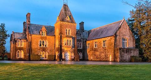 Knocktopher Abbey at dusk
