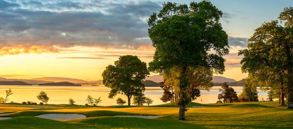 Dusk over Loch Lomond golf