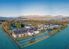 Aerial view of Whitbarrow Holiday Village