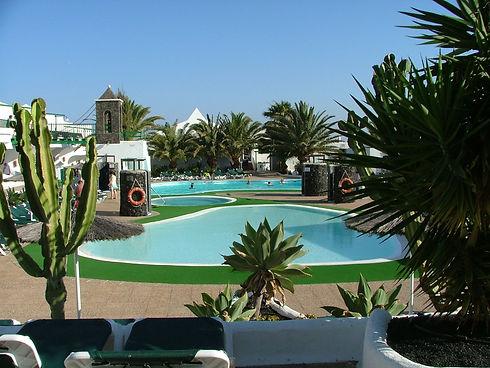 Club Tahiti pool area on th Costa Tegiose, Lanzarote