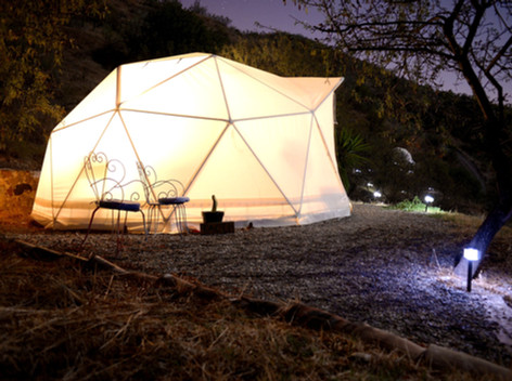 One of 3 Geodesic domes