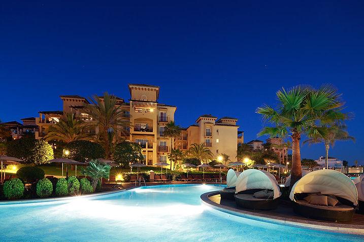 Marriott's Marbella Beach Resort by night