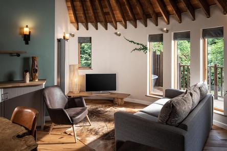 Uniquely designed lodges at Clowance Estate