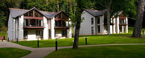 Dunkeld Lodges in forest setting in Perthshire