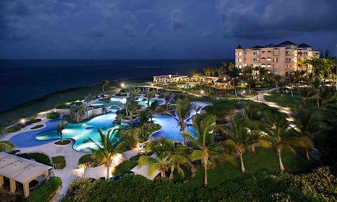 Crane resort by night