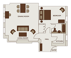 Floor plan of one bed premium apartment at 47 Park Street London