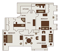 Floor plan of two bed premium apartment at 47 Park Street Mayfair