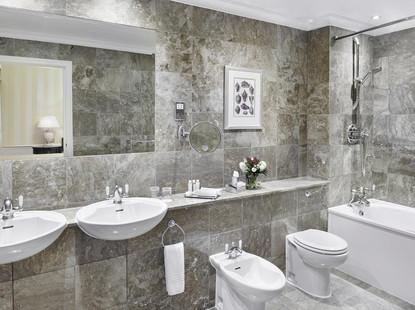 47 Park Street greay marble bathroom