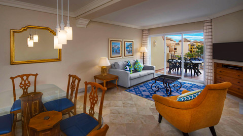 Living and dining at Marbella Beach Resort