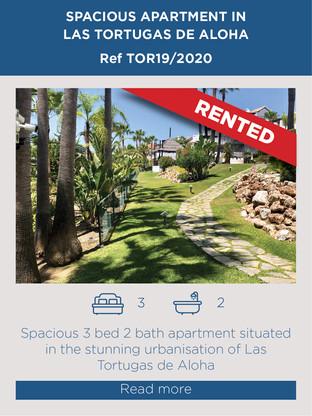 Apartment for rent Las Tortugas de Aloha