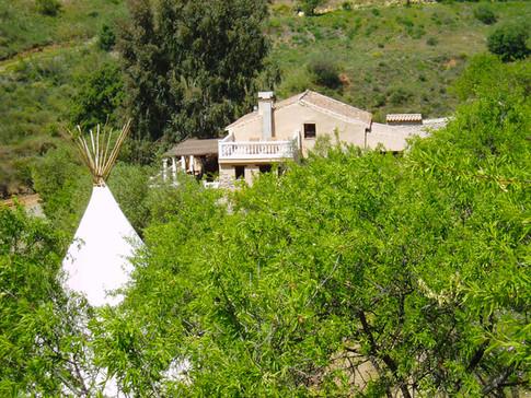 Main house - El Romero - and teepee