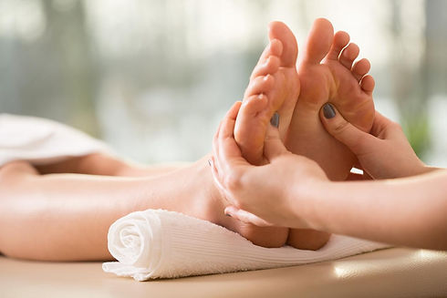Relaxing and healing foot massage