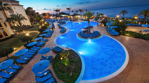 Unusual shapd pool at Marbella Beach Resort