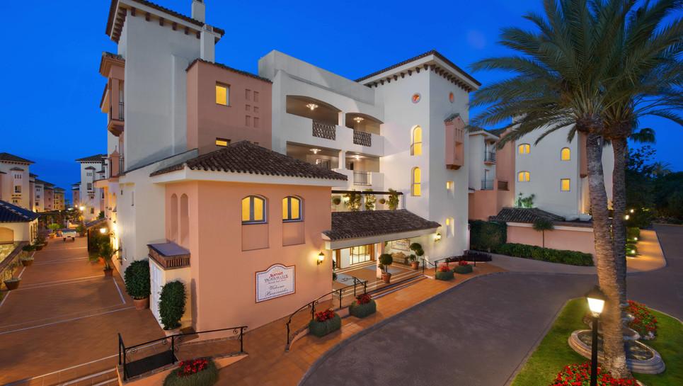 Entrance to rception at Marbella Beach Resort