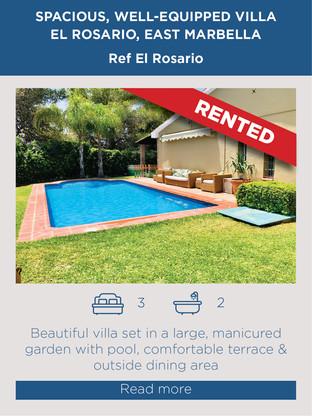 Villa for rent in El Rosario