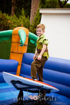 Bouncy castle surfing