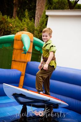 Bouncy castle surfing