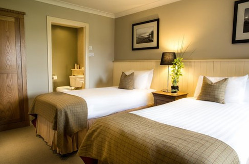Stylish bedroom at Cameron Club