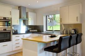 Clean lines in Clowance Estate kitchen