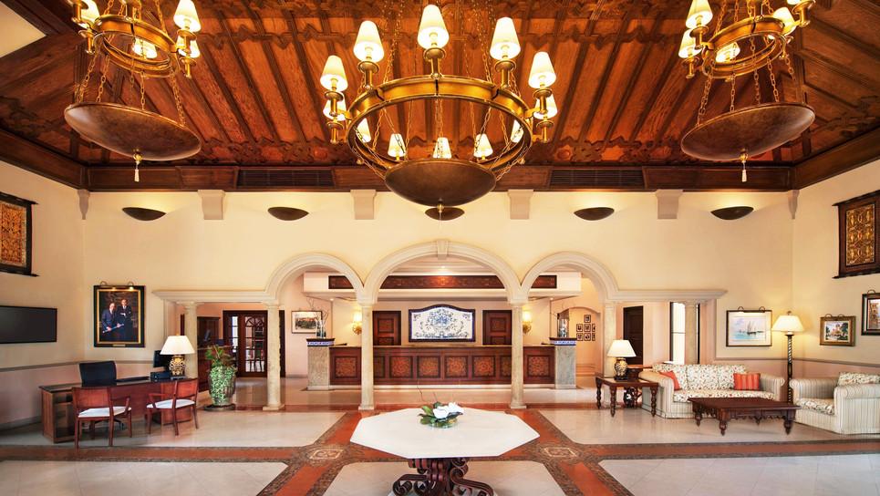 Baronial lobby area
