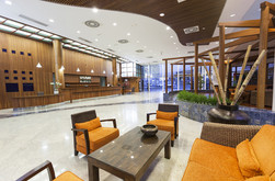 Spacious and modern reception area