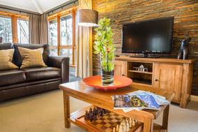 Stylish lounge at Camereon House Lodges