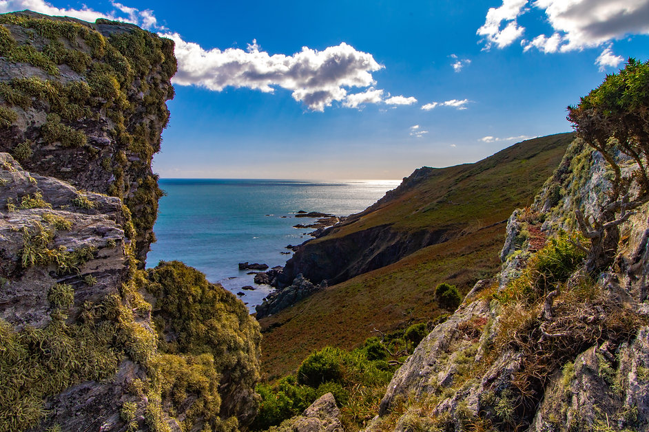 Looking out to see from cliffs