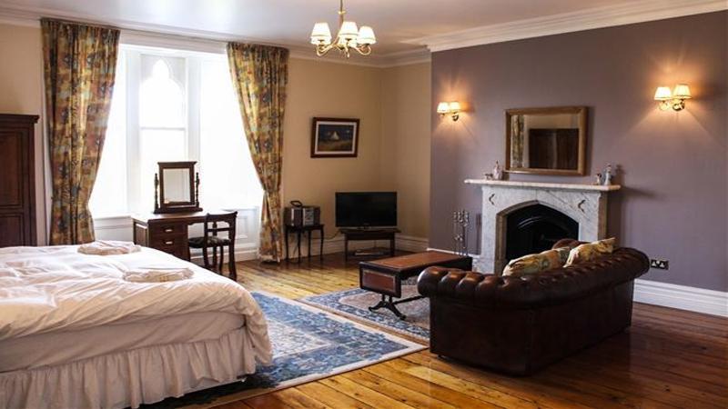 Knocktopher Abbey spacious bedroom