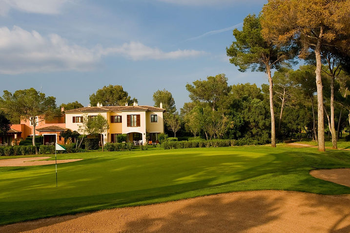 Town house from golf course
