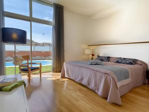 Spacious villa bedroom