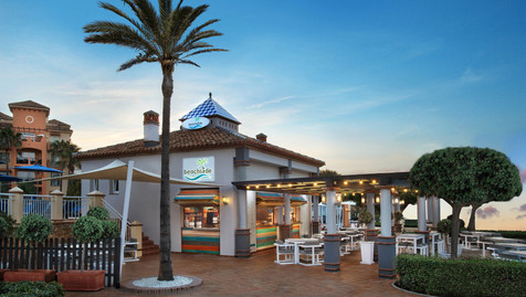 Beachside bar at Marriott Marbella Beach Resort