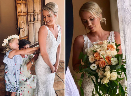 The smiliest bride ever