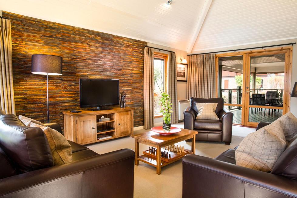 Spacious lounge area at Cameron House