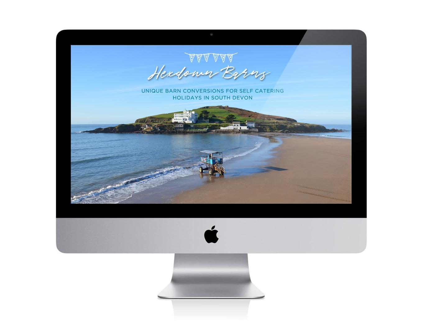 Hexdown Barns holidays web imac
