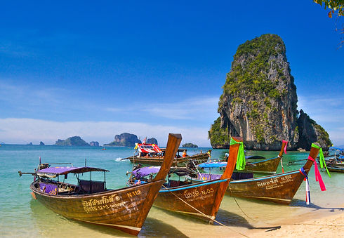 Colourful boats in Thailand