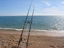Beach fishing in South Devon