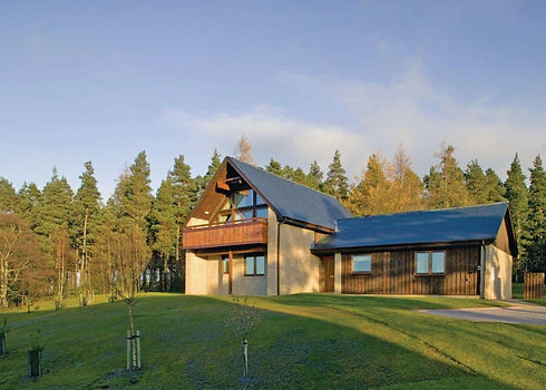 Slaley Hall Lodges in forest setting